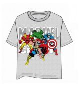 Marvel Group Gray T-Shirt - Size XL